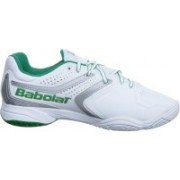 Babolat Drive 3 All Court Wimbledon Tennis Shoes For Men(White, Green)