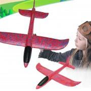 Nuevo Estilo Niños Modelo De Avion De Juguete Colorido Espuma Mano Lanzar Lanzar Avión Planeador Juguetes Swing (rojo)