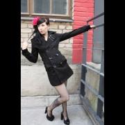 Kaput ženski POIZEN INDUSTRIES - Hitchhicker - Crno