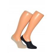 Milena Ponožky Milena Microstopki 0583 bambus béžová 45-47