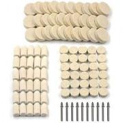 DIY Crafts 25 - Pcs Wool Felt Polishing Pad & Polishing Wheel Kicpot Point & Mandrel Kit for Dremel Rotary Tools (25 - Pcs) to Grind and Polish Glass Plastic Metal Marble Jewellery