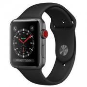 Смарт часовник Apple Watch Series 3, 42mm, Aluminum, Space Gray, GPS + Cellular, Great Refurbished