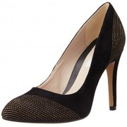 Clarks Women's Always Bright Black Sde Leather Pumps - 6 UK