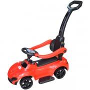 Masinuta fara pedale pentru copii cu volan, sunete si maner de impins