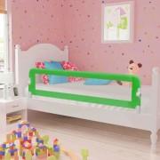 vidaXL Barra de segurança para cama de criança 2 pcs 150x42 cm verde