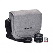 Olympus Step Up Kit (M.Zuiko 25mm f1.8 Lens Black, 32GB SD Card & Grey Gadget Bag)