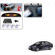 Auto Addict Car Silver Reverse Parking Sensor With LED Display For Hyundai Verna Fluidic