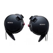 Sony Clip-on Stereo Headphones with Double Retractable Cord, MDR-Q68LW(B), Black