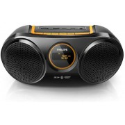 Micro Sistem Philips AT10, MP3 Player, Radio FM, Bluetooth (Negru)