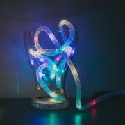 Sir de lumini de Craciun - multicolor / fir argintiu - 2 m, 2 x AA