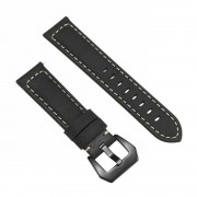 Split Leather Watch Band with Black Big Buckle for Huawei Watch GT - Blue