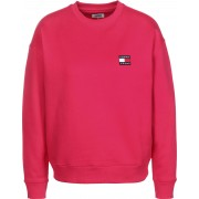 Tommy Jeans Badge Crew Damen Sweater pink Gr. XS