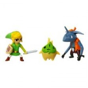 Set Figurine World of Nintendo The Legend of Zelda Windwaker HD: Link, Makar si Bokoblin