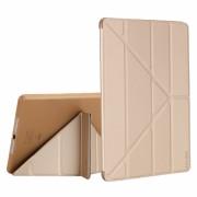 Husa KRASSUS pentru iPad Air 1 A1474 / A1475 / A1476 flip cover activa multi pliabila, auriu