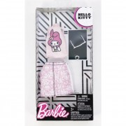 Barbie ruha szettek karakterekkel - Hello Kitty rózsaszín póló szoknyával