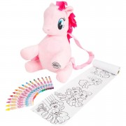My Little Pony Pinkie Pie Backpack with Colouring Accessories
