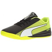 PUMA Men's Evospeed Star S Ignite Soccer Shoe, Puma Black-Puma White-Safety Yellow, 9 M US