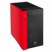 Carcasa Silverstone SST-RL08BR-RGB Red Line Mini Tower Micro ATX, TG,black