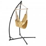 PremiumXL - [casa.pro] Viseća fotelja sa strukturom - bež - viseća stolica