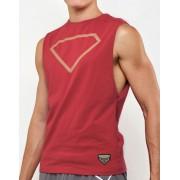 Supawear Diamond Muscle Top T Shirt Maroon TA11DIMA