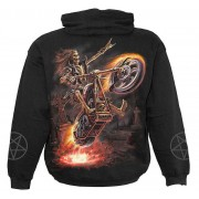kapucnis pulóver gyermek - Hell Rider - SPIRAL - T025K301