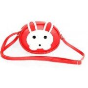 Leather Land Red, White Sling Bag