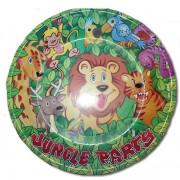 Tányér, party, dzsungel 6 db/cs