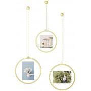 Комплект от 3 броя висящи рамки за снимки Umbra Fotochain - цвят бронз мат