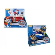 Nickelodeon, Paw Patrol Chases Cruiser, Marshalls Fire Fightin Truck 2 Vehicle And Figure Sets Bundle