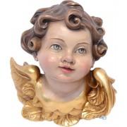 Scultura in legno Testina d'angelo 10 cm color