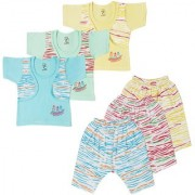 Jo kids wear Baby Boy Cotton Dress Set (Top and 3/4th Pant) Multi Color Set of 3 (1012)