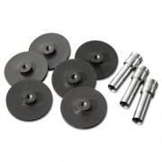 Swingline Replacement Head Punch Set, Three Heads/Five Discs, 9/32 Diameter Hole, Gray