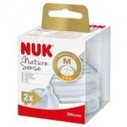 NUK Nature Sense Trinksauger, Silikon-Trinksauger mit extraweicher Softspitze, 1 Packung = 2 Stück, für Kinder von 6-18 Monaten (M)