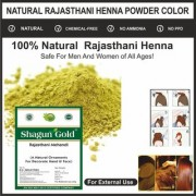 Shagun Gold 100 Organic Pure Natural Rajasthani Henna Powder For Hair 2x100 Gram pack Of Two