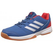 adidas Men's Gumption Indoor Corblu, Silvmt and Corred Indoor Multisport Court Shoes - 7 UK/India (40.67 EU)