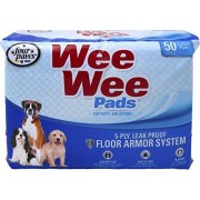 Four Paws CONTAINER Wee Wee Pads For Puppies 50 PK