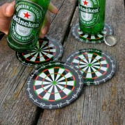 Dartbord onderzetters   Set van 4