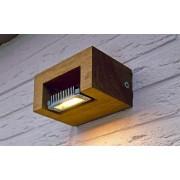 Royal Botania LOG Wall væglampe LED Teak træ IP65