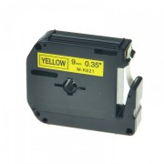 Banda compatibila Brother MK-621, 9mm x 8m, text negru / fundal galben