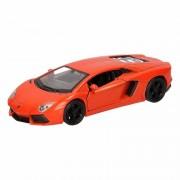 Lamborghini Speelgoed Lamborghini Aventador LP700-4 oranje Welly autootje 12 cm