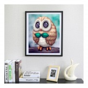 Bordados De Diamante Completo DIY 3D Cartoon Owl Diamond Pintura Para Decoración De Pared