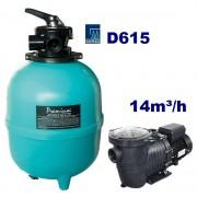 Basic Plus 14m3/h D615 740W homokszűrős vízforgató AS-040018