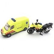 SIKU Set Ambulantna kola i motor - Ambulance Set 1654S