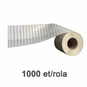 Role de etichete bijuterii 2x22x10mm, 1000 et./rola