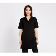 Lazy OAF Bowling Shirt Dress Black
