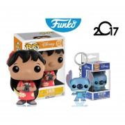 Set 2 Piezas Lilo Y Llavero Stitch Funko Pop Pelicula Disney ENVIO GRATIS