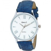 Gen Z GENZ-SN-SLIM-0007 Signature white dial blue leather strap analog wrist Watch - For Men