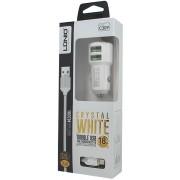 LDNIO C309 Dual USB Auto oplader 3.6A met 1 Meter Micro USB Kabel geschikt voor o.a Samsung Galaxy Xcover 2 3 4