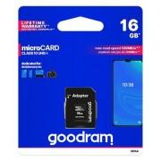 Goodram Microcard 16 GB micro SD HC UHS-I class 10 карта памет. SD преходник (M1AA-0160R12)