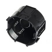 Doze simple ingropate pentru aparataje Ø68 mm negru, 100 bucati, combinare in serie